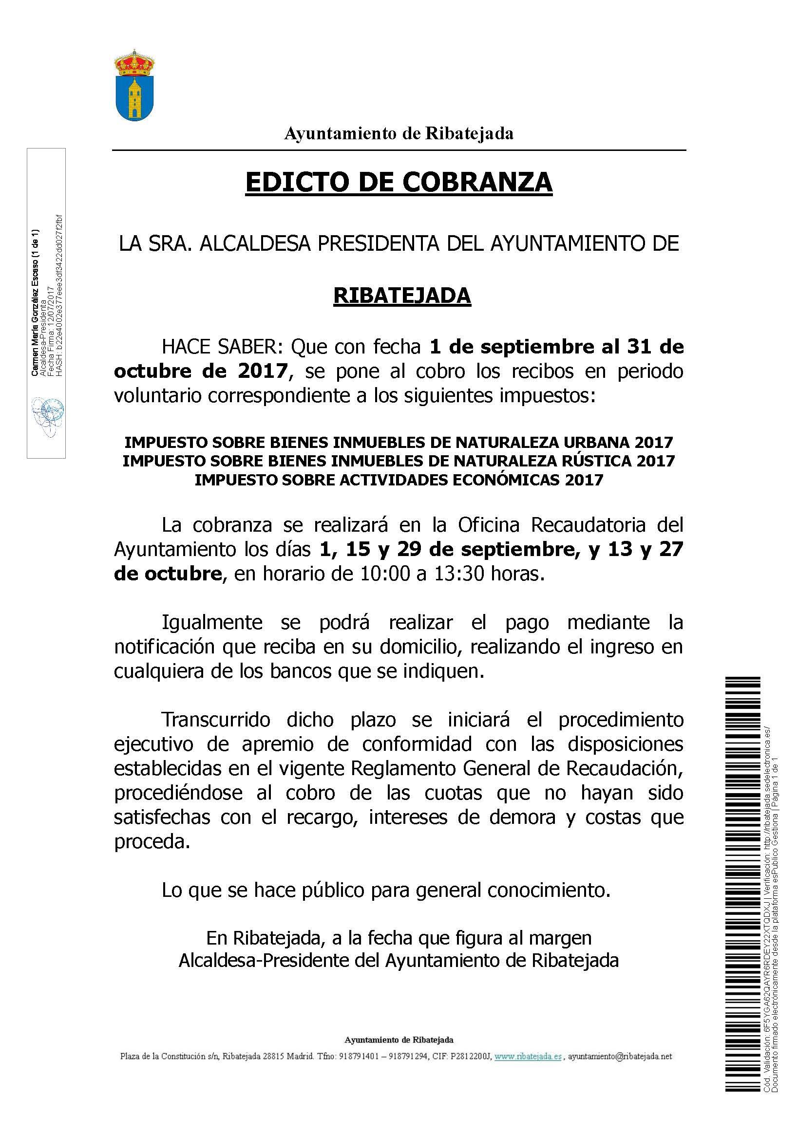 Edicto de Cobranza 2017