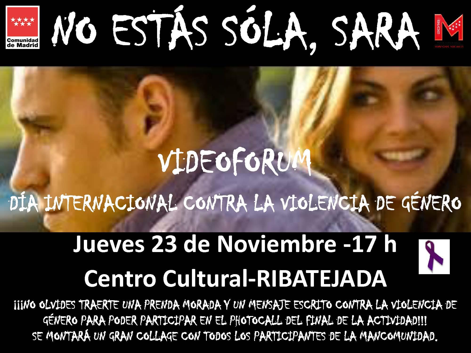 Videoforum Ribatejada contra la violencia de género
